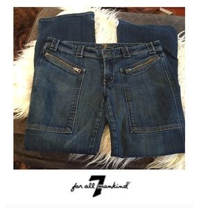 7 For All Mankind Zipper Pocket Bootcut Jeans